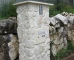 pilier en pierre pour boite aux lettres MONTBONNOT